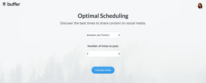 buffer-optimal-scheduling